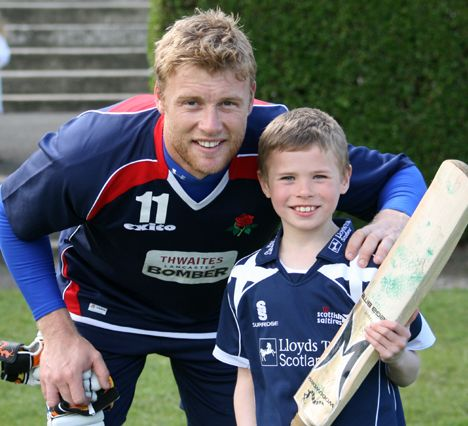 Christian with Freddie Flintoff